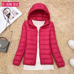 $enCountryForm.capitalKeyWord UK - Winter Spring Women 90% White Duck Down Jacket Woman Hooded Ultra Light Down Jackets Warm Outdoor Portable Coat Parkas Outwear Female