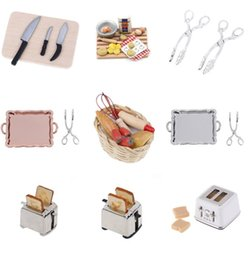 $enCountryForm.capitalKeyWord Australia - Microwave Bread Cooking Board Knife Chopping Block 1: 12 1:6 Scale Miniature For Doll House Pretend Play Kitchen Toy