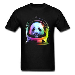 summer painting t shirts UK - Shirts Men Hop Shirt Designer Funny Mens T Happy Summer Panda T-shirt Astronaut Animal Colorful Top Painted 2018 Hip Tee Gdufm