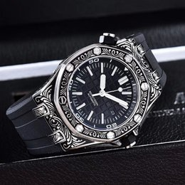 $enCountryForm.capitalKeyWord Australia - Luxury Fashion Design Royal Wristwatches Offshore Carving Stainless Steels Automatic Mechanical Rubber Strap Sport Men Mens Watch Watches