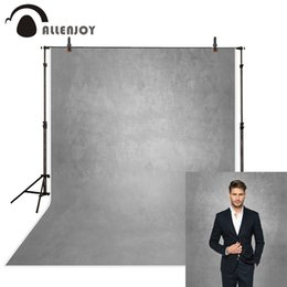 Backgrounds Portrait Photography Australia - Allenjoy gray pure color old master photography backdrops abstract computer printing custom portrait background photo studio