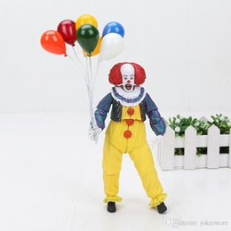 Wholesale NECA Pennywise Joker Stephen King Clown Anime Figures Action Figure Collectible Moble HotToys Birthdays Gifts Doll New Arrvial Hot Sale