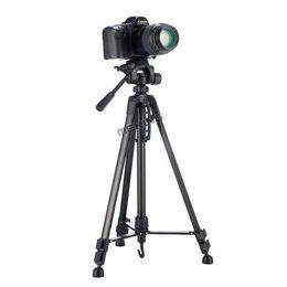 Professional Camcorder Tripods UK - Meking New 140cm 55inch Professional Tripod stand for Camera Camcorder WF-3520 Black tripod tripe extensor para foto
