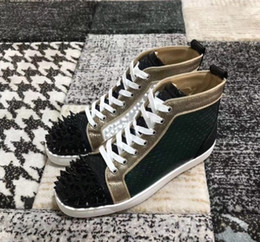 $enCountryForm.capitalKeyWord NZ - NEWEST Mens 2019 High Quality Pik Pik Spikes Sneakers Shoes Green Leather Bottom high-top Famous Brand casual shoes Walking Free Shipping