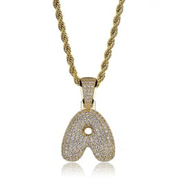 $enCountryForm.capitalKeyWord NZ - Lucky Sonny Factory Price A-z Custom Bubble Letters Necklaces & Pendant Charm For Men Women Gold Silver Color Hip Hop Jewelry C19021401