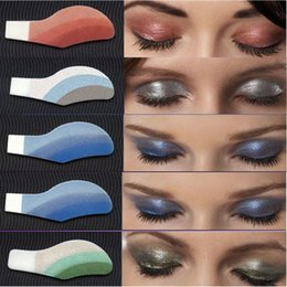 temporary eye shadow tattoos UK - 6 Pair Instant Eye Shadow Temporary Makeup Peelable Eye Tattoo Stickers Cosmetic Tool