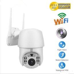 Ingrosso 2019 telecamera di sorveglianza IP 1080P Wifi esterna della cupola di velocità senza fili Wifi sicurezza zoom camera Pan Tilt 4X digitale 2MP rete CCTV