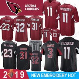 92c2ca462 11 Larry Fitzgerald Arizona Jersey Cardinal 13 Kurt Warner 21 Patrick  Peterson 31 David Johnson 3 Carson Palmer Football Jerseys Stitched