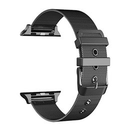 $enCountryForm.capitalKeyWord Australia - 3 Colors 42mm 38mm black Stainless Steel Strap for Apple Watch 2 specification Smart Metal Bracelet Wristband For iWatch Series 1 2 3