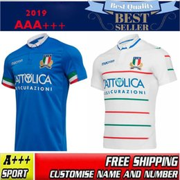 9a9d39cb5b8 Soccer jerSey italy white online shopping - 2019 Italy home blue away white Rugby  Jerseys FIR