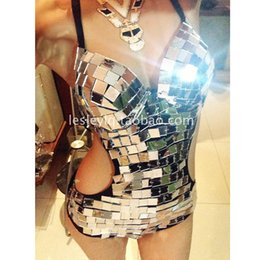 $enCountryForm.capitalKeyWord Australia - New Mirror Costume Women Nightclub Jumpsuit Colorful Mirror ds Party Raves clothing Stage Clothes For Female Singers VDB668
