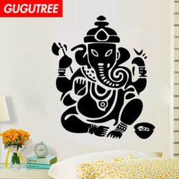 chinese famous paintings Australia - Decorate Home India Buddhism mandala flower art wall sticker decoration Decals mural painting Removable Decor Wallpaper G-1113