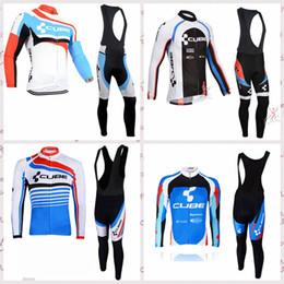 Cube jersey bib online shopping - CUBE team Cycling long Sleeves jersey bib pants sets Outdoor mountain bike mens riding sports clothing Q81603