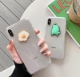 $enCountryForm.capitalKeyWord Australia - For Transparent Pouch Egg iPhoneX Mobile Shell Apple 8plus 7 XS Soft Case 6s Simple Small Dinosaur