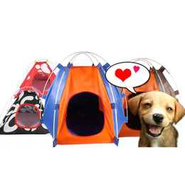 $enCountryForm.capitalKeyWord Australia - Portable Pet Dog Tent Outdoor Travel Kennel Cat Folding Tent Dog Camping Fence Rainproof Sunscreen Pet House Travel Carrier G5