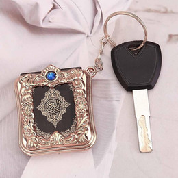 $enCountryForm.capitalKeyWord UK - Vintage Mini Ark Quran Book Koran Pendant Muslim Keychain Bag Purse Car Decor New