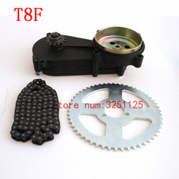 atv plate UK - T8F liya front gearbox transmission gear box+t8f chain+Chain plate for Mini moto ATV 47cc 49cc pocket bike 2 stroke engine part