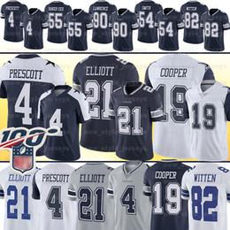 Witten jersey online shopping - 21 Ezekiel Elliott Amari Cooper Dalla Dak Prescott Cowboy Jersey Cole Beasley Leighton Vander Esch Jason Witten Football Jerseys