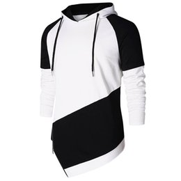 sports blouse NZ - Sweatshirt Man Hoodie Autumn Spring Patchwork Long Sleeve Casual Sport Hoodies Sweatshirts Blouse Male Clothes Outdoor Fashion