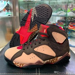 Mink Shoes Australia - 2019 New Authentic 7S Patta x 7 OG SP Shimmer Tough Red MAHOGANY MINK VELVET BROWN AT3375-200 Man Basketball Shoes Sports With Original Box