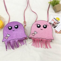 Discount kids mini messenger purses bags - Childrens Bags Shoulder Bag Messenger Bag glisten girls bags tassels kids purses Mini girls purses designer YSY164