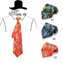 $enCountryForm.capitalKeyWord Australia - Musical Note Men's Tie Cravate Homme Black Navy Red Music Note Neckties Wedding Party vestidos Gravatas Multi Colors Luxury