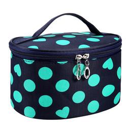 $enCountryForm.capitalKeyWord Australia - Portable Waterproof Multifunction Dot Love Heart Cosmetic Bag Travel Package Makeup Bag Case