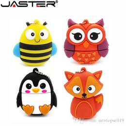 $enCountryForm.capitalKeyWord Australia - Happy cute penguin owl fox pen drive cartoon usb flash drive pendrive 4GB 8GB 16GB 32GB U disk animal memory stick gift