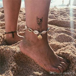 Turtles Figures Australia - Boho Weave Turtle Pendant Anklets For Women 2018 Shell Anklet Bracelets On The Leg Bohemian Foot Ocean Jewelry 20 styles ALXY