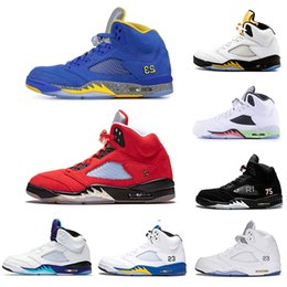$enCountryForm.capitalKeyWord Australia - Inspire Michigan Wings Laney 5s Mens Basketball Shoes 5 Trophy Room Grape Fire Red Og Black Metallic Silver Men Sports Sneakers 5.5-13