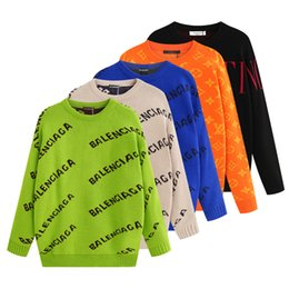 Wholesale style mens clothes online – oversize 2019 Fashion Mens Designers Sweater Knitting Hoodies Women Luxuries Sweatshirt Long Sleeve Hoodies Hip Hop Pullover Brand Clothing
