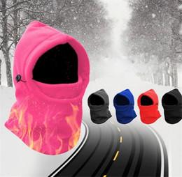 151cf54a67e 7 Color Winter Warm Fleece Beanies Hats For Men Skull Bandana Neck Warmer  Balaclava Ski Snowboard Face Mask Hat Set