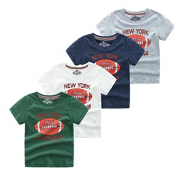 $enCountryForm.capitalKeyWord Australia - baby boys t-shirts tee cotton soft tops kids children outwear clothes T shirt short-sleeved Round Neck summer outfit New York Champions