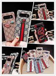 Iphone case snake wallet online shopping - For Iphone Pro Max Xr Xs Xr plus Luxury Snake Bee Cell Embroidery Leather Phone Case for Galaxy S10 G S10plus S9 S8 Note9 Note10 plus