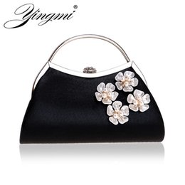 handbags for dinner Australia - YINGMI Sequined flower shell female evening bags shoulder fashion ladies clutch for party dinner handbags