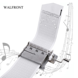 Freeshipping DIY Hand Crank Music Box Mechanical Movement Strips Music Box Puncher Note Paper Tape Compose Make Your Own Song Gift