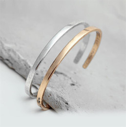 $enCountryForm.capitalKeyWord Australia - Simple Gold Silver Open Cuff Bangles For Women Vintage Plain Bracelets Couples Pulseras Opening Bangle Jewelry Gift T278