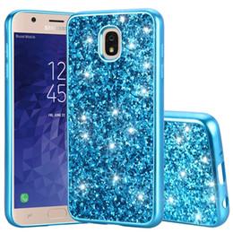 Glitter Bling Rhinestone Hard Case Australia - For Samsung Galaxy J7 A6 2018 LG Aristo 2 Q7 Stylo 4 MOTO E5 Play Oneplus 6T Bling Glitter Sparkle TPU PC Hard Case Shiny Skin Cover 10pcs