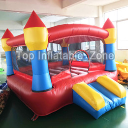 inflatable jumping castles NZ - Big Inflatable Games Bouncer Double Sides Free Gift PE Balls Inflatable Jumping Bouncy Castle House Outdors Toys