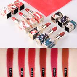 Chinese lipstiCks online shopping - Chinese Style Matte Lipstick Waterproof Lips Moisturizing Easy To Wear Sexy Lip Matte Lipsticks Forbidden City Lipstick