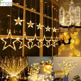 Led string Lights bLack wire online shopping - Frigg LED Light String Home Decoration Light Wire Garland Wedding Event Supplies Fairy String Lamp for Indoor Home lighting