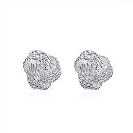 $enCountryForm.capitalKeyWord UK - Plated Jewelry Delicate Knot Women's Stud Fashion Earrings Party Lovely Earrings Free ShippingJM002