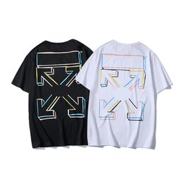 $enCountryForm.capitalKeyWord Australia - 19ss designer brand t shirt simple line arrow women men tshirts high quality street fashion tshirts new trend wild couple short sleeve cosy