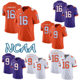 Wholesale NCAA Clemson Tigers jersey Trevor Lawrence Travis Etienne Jr Jerseys Adult superior quality