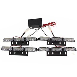 12v 36 light bar Australia - Recovery Emergency 4 Bars Car Grill Warning Accessories 36 LED 12V Universal Multi Mode Auto Strobe Light Flashing Exterior