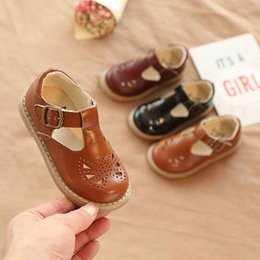 $enCountryForm.capitalKeyWord Australia - New Spring Children Toddler Baby Litte Girls Boys England Korean Slip-On Single Shoes For Girls Boys School T-shaped Hollow Leather Shoes