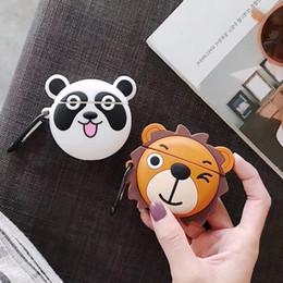 $enCountryForm.capitalKeyWord Australia - For AirPod 2 Case 3D Lion Panda Animal Cartoon Soft Silicone Wireless Earphone Cases For Apple Airpods Case Cute Cover Funda