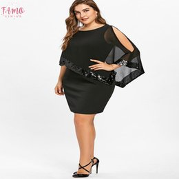 purple overlay dress Canada - Dress Fashion New Women Plus Size Pencil Dresses Cold Shoulder Overlay Asymmetric Chiffon Strapless Sequins Dresses Dropship Mar8