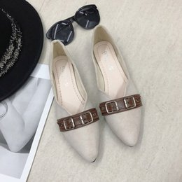 comfortable soft women shoes Australia - 2020 Women Loafers Comfortable Flat Shoes Lightweight Shallow fashion Female Casual Slip On Belt buckle Soft Slippers J16-20