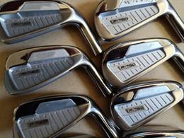 P760 Golf Irons Clubs de golf Iron P760 3-9.P 8pcs Black Steel graphite shaft Conducteur bois de parcours Fairway Hybrid Wedge Rescue Putter Set en Solde